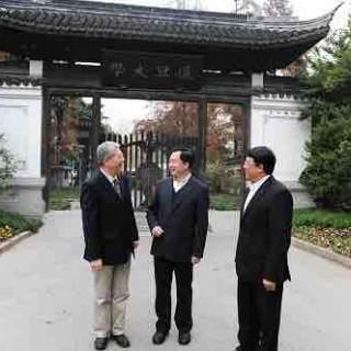 上海市委副书记李希一行到复旦大学调研 朱之文、杨玉良陪同
