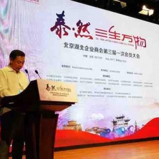 北京湖北企业商会换届,汪林朋接力陈东升当选新任会长