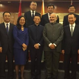 莫迪会见中国企业家代表 马云王健林孙亚芳黎瑞刚林斌