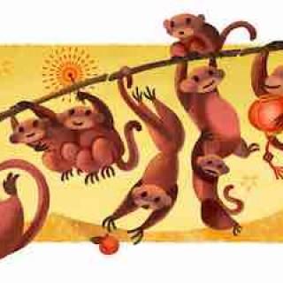 "Google 猴年首页DOODLE是""猴"" 盘点12年春节涂鸦"